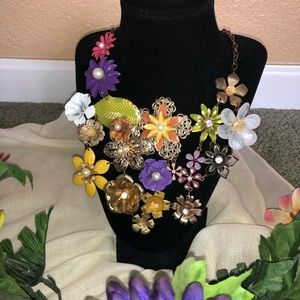 Beautiful Floral Statement Necklace